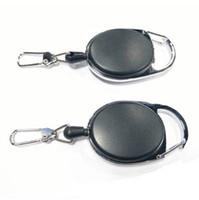 Mini llavero retráctil multifuncional negro llavero anti-perdida hebilla anillo retroceso tirón clip llavero al aire libre