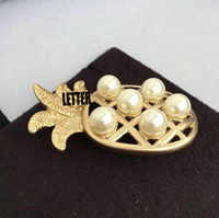 High- end Pearl Ananas Brooch Pins With Letters Stamp Brooche...