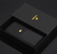 Cohiba Gute Qualität schwarz Farbe Leder Humidor kann 3 Zigarre mit schwarzer Farbgeschenkbox halten
