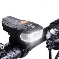 2 LED Bicicleta Alemão Padrão Inteligente Sensor de Luz À Prova D 'Água Bicicleta Luz Frontal Headlightt Lanterna 5 Modos de Carregamento USB Equitação Noite