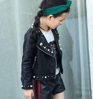 Girls locomotive leather clothing autumn new girls children ...