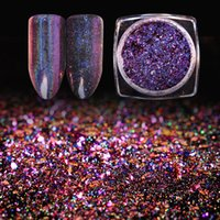 6 Colors Chameleon Holo Flakes 0. 2g Glitter Powder Dust Lase...