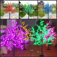 LED Cherry Blossom Tree Light 576 шт. светодиодные лампы 1.5 м высота 110/220 В семь цветов для варианта непромокаемые открытый использование Drop доставка