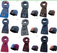 Brand UA Winter Beanie Scarf Set Reversible hats under warm ...