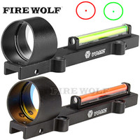 Red and Green Fiber 1x28 Red Dot Sight Hunting Riflescope Fi...