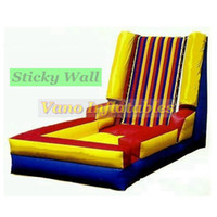 Sticky Wall Commercial PVC Hook and Loop Suit and Wall Inflatable Stick Wall Funny Bouncer Outdoor Events with Blower Free Delivery