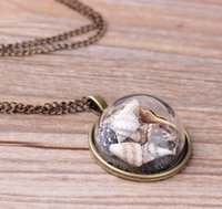 2020 New Fashion Wind Beach Shell Conch étoile collier pendentif en verre clair de lune Gemstone océan élément collier pour femmes Bijoux Accessorie