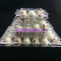 6 Holes Quail Eggs Container Plastic Boxes Clear Eggs Packin...
