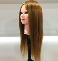 La testa di addestramento dei capelli umani di 40% può essere riccia professionale Mannequin delle bambole di lavoro dei parrucchieri Testa femminile Mannequin Styling di lavoro di parrucchiere