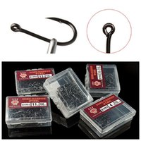 100pcs 1box 3- 12# Ise Hook High Carbon Steel With Hole Barbe...