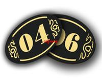 5 * 8 CM Sklep Akrylowy Hotel Klej Drzwi Stół Znak Płytowy Szafka Półka Numer Półka Znak Naklejki Party DIY Dekoracja F052205