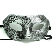 Romans Gladiator Style Silver Mens Up Half Face Mask Masquer...