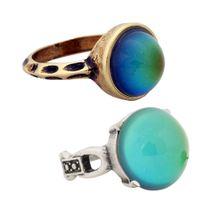 Set di pietre preziose Mood di alta qualità Set Best Antique Gold e Silver Plated Ring Change Rings RG002-RS041