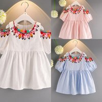 2018 Summer New Cut baby girls folk- custom Flower dress Jewe...