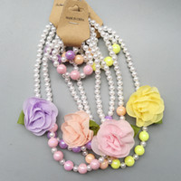 Fashion Children' s Fashionable Pearl Necklace Girls Whi...