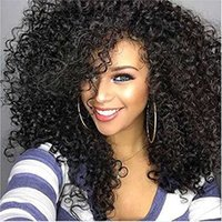 Z&F Curly Wigs Look For Black women Afro Kinky Curly Black W...