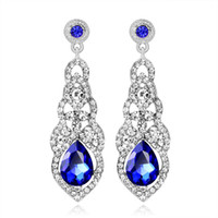 2018 Pendientes de joyería nupcial nupcial Rhinestones pendientes cristal de novia joyería de la boda joyería de moda para Mujeres BW-180
