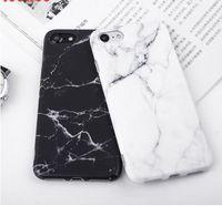 Imd Mermer Taş Jel Kılıf Apple iphone 7 6 s 6 8 Artı 5 5 s SE X 10 Kılıfları Siyah Beyaz Yumuşak Tpu Squishy telefon Kılıfı Coque