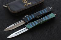 Alta qualidade VESPA Lâmina de Faca: D2 (S / E, D / E) Lidar com: Alumínio + TC4 + G10, acampamento ao ar livre facas de sobrevivência EDC ferramentas