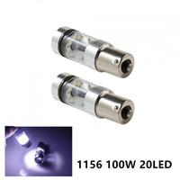 2Pcs Super Bright 100W 1156 /1157 BA15S No Error Car Styling LED Backup Reverse Tail Brake Stop Light Bulb Fog Lamp Turn Signal
