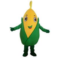 2018 Hot Sale Frukt Och Grönsaker Corn Mascot Kostym Roll Spela Tecknad Kläder Vuxen Storlek Högkvalitativ kläder Gratis frakt
