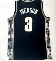 College 2018 nouveaux hommes Georgetown 33 maillot blanc Patrick Ewing de basket-ball shirts, Discount Iverson 3 Populaire Sport Formateurs vêtements de basket-ball