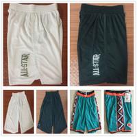 New Style 2018 All Star Pantaloncini da basket Team Bianco Nero Pantaloni  con cuciture Verde 1996 All star Pantaloni corti Ricamo Logo Alta qualità 99c209a2f18c