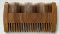 10cm * 5.5cm naturais pentes de cabelo de barba de bolso de sândalo para homens - pente de madeira Natural artesanal com dente denso e esparso