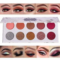 10 Colors Glitter Powder Eyeshadow Palettes Eyes Cosmetics P...