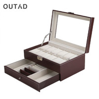 OUTAD 12 Grids Jewelry Casket Large Watches Box Leather Pack...