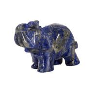 Various Natural Healing quartz agate & fluorite Elephant Pocket Carved Gemstone Crafts Crystal Animal Totem Spirit Stone Figurines 2 inches