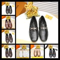 2018 scarpe da uomo di marca di lusso in vera pelle guida casuale oxford scarpe  da 8e3152aece3