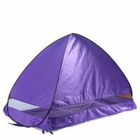 야외 태양 그늘 캠핑 텐트 하이킹 해변 텐트 UV 보호 완전 자동 태양 그늘 휴대용 팝업 비치 텐트 배송 미국에서