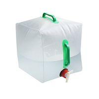 20L Dobrável Sacos De Água De Alta Capacidade Transparente Balde de PVC Com Dois Lidar Com Pacotes de Hidratação Fácil de Transportar 7 8o B