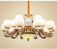 Wohnzimmer Kristall Kronleuchter Schlafzimmer Licht Hotel Sales Center  Führte Kronleuchter Gold Weiß Kronleuchter Beleuchtung Vintage Lampen ZG8089