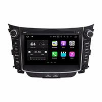 """Quad core 2 din 7 """"Lecteur de DVD de voiture audio 7.1 Android 7.1 DVD de voiture pour Hyundai I30 2011-2015 avec 2 Go de RAM GPS Radio Bluetooth WIFI Mirror-link"""