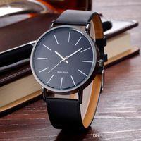 Neue Ankunfts-elegante klassische lederne Uhr-Marken-Mann-Frauen-Dame Girl Unisexmode-einfacher Entwurfs-Quarz-Kleid-Armbanduhr Reloj hombre