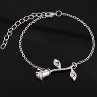 Fashion Rose Flower Charm Bracelet & Bangle For Women Adjust...
