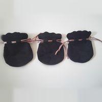 Versuchen Sie 20 stücke Black Samt Beutel Tasche Rosa Schnur für Pan Charm Perlen Halskette Ohrringe Anhänger Schmuck Verpackung Neue Ankunft