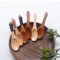 Япония стиль экологичный деревянная ложка посуда короткая кухня кулинария сахар соль маленькие ложки Бесплатная доставка ZA6390