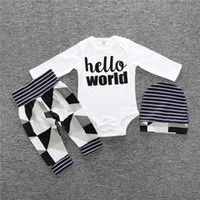 2018 Autumn Fashion boy baby clothing long sleeve letter T- s...
