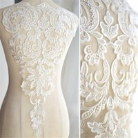 French lace patch with white bones wedding dress DIY bridal ...