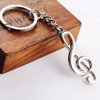 Kreatives Musik-Symbol-Metallkeychain Ring-Schlüsselring-lustige neue Art und Weisegeschenk Trinket Wholesale GM366