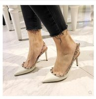 Star with the same rivet pointed high- heeled shoes Liu Ding ...