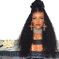 Fashion 1b# 6# 27# 613# Bug# Black Kinky Curly Lace Front Wi...