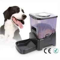 2018 Wholesales !!! PF-10A 대용량 부분 제어 자동 애완 동물 공급기 음식 디스펜서 검정색 자동 공급 장치 Waterers