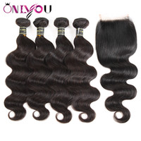 Brazilian Body Wave Closure with Bundles Wet and Wavy Body W...