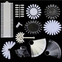 가짜 손톱 팁 컬러 카드 연습 디스플레이 도구 투명 흰색 버클 링 매니큐어 네일 아트 도구 무료 배송