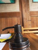 Hohe Qualität ORB Farbe Rust Beweis 304 Edelstahl-Seife Pumpendeckel DIY Weckglas Soap Dispenser- NO Jars