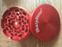 bunt 40mm SharpStone Mühlen zum Herb 4 Teile harte Tabak-Metall-Zink-Legierung Mühlen zum Tabak 6 Farben